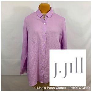 J. Jill 100% linen button down tunic